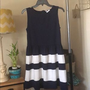 bar III navy blue and white dress